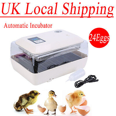 New Digital Chicken Duck 24 Egg Incubator Fully Automatic Poultry Hatcher Supply