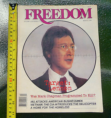 Freedom Magazine Volume 18 Issue 7 March '86 Target: Lennon (John Lennon) RARE!