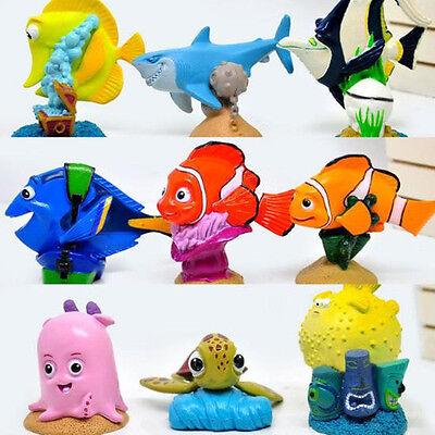 Cute 9pcs Finding Nemo Dory Action Figures Doll Kids Children Baby Boy Girl Toy