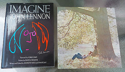 Imagine John Lennon Harcover Book + Plastic Ono Band LP SW3372 Purple Label