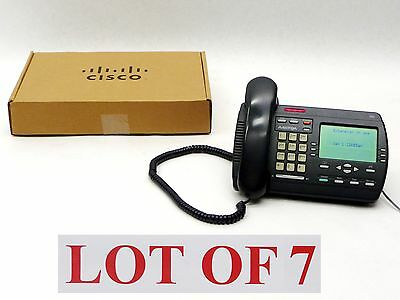 Lot Of 7 Aastra Powertouch 390 Charcoal Business Telephone Speakerphone Black