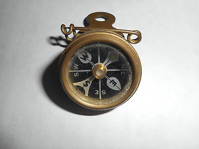 Antique Marble's Gladstone Brass Compass