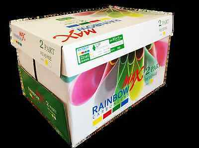 Rainbow Max NCR Carbonless Paper (3 Part) 8-1/2x11 (2500 Sheets) Laser&Inkjet