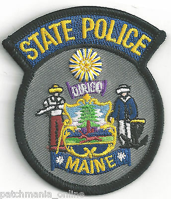 STATE POLICE OF MAINE - POCKET/HAT SIZE - IRON or SEW-ON PATCH