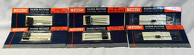 MALLORY SILICON RECTIFIER DIFFUSED JUNCTIONS (SCRs) - LOT OF 6 - NOS - VINTAGE