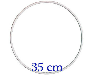 Large White Coated Metal Ring for Crafts - 35cm