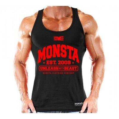 NEW Monsta Clothing Soft Tank: Unleash The Beast Bodybuilding Tanktop: Black