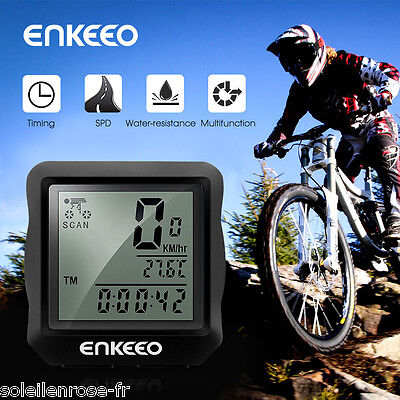 Wired Bike Bicycle Computer Speedometer Cycling Odometer Backlit Speed Time AU