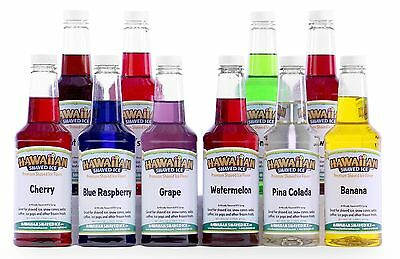 Hawaiian Shaved Ice 10 Flavor Pack of Snow Cone Syrup 10 Pints