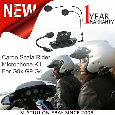 Cardo Scala Rider Motorcycle Helmet Audio& Microphone Kit│Dual Mic│For G9x G9 G4