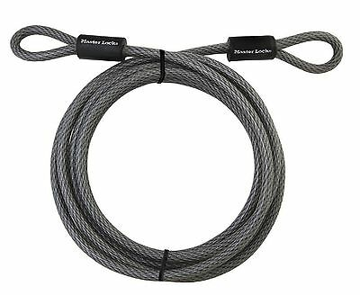Master Lock 72DPF Heavy Duty Looped End Cable 15 Feet Braided Steel 3/8-inch ...