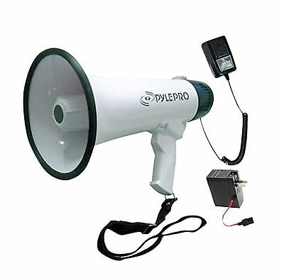 Pyle Bullhorn Megaphone Built-in Rechargeable Battery 10 Second Memory Record...