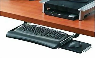 Keyboard Mouse Tray Drawer Underdesk Under Desk Sliding Mount Office Home Black