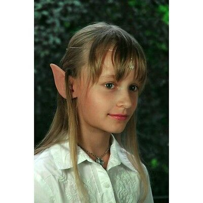 Elf Pixie Prosthetic Ears Long Children Application with Fixative