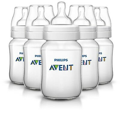 Philips AVENT Classic Plus BPA Free Polypropylene Bottles 9 Ounce (Pack of 5)