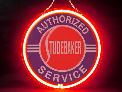 Studebaker Garage Service Parts Display Decor Neon Sign