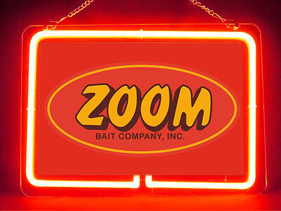 Zoom Bait Fly Fishing Service Parts Display Decor Neon Sign