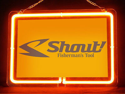 Shout Fishing Service Parts Display Decor Neon Sign