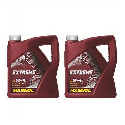 Mannol Extreme 5W-40 Fully Synthetic Engine Oil 2 X5Litre