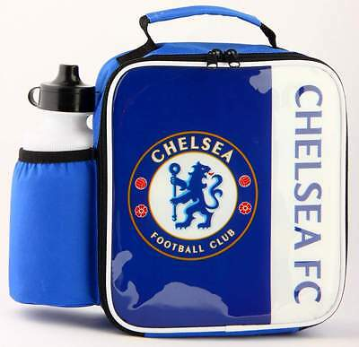 Chelsea FC Vertical Lunch Bag/Box and 600ml Bottle Set | Football Lunchbox