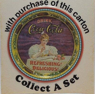 1970's Coca-Cola Anniversary Coaster Carton Stuffer Insert Coke 75th Shelbyville