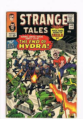 Strange Tales # 140 The End of Hydra ! Nick Fury ! grade 7.5 scarce hot book !