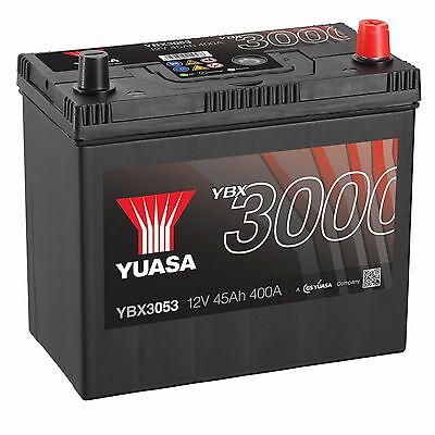 Yuasa YBX3053 12V Car Battery 45Ah 400A 053 Type Sealed Maintenance Free