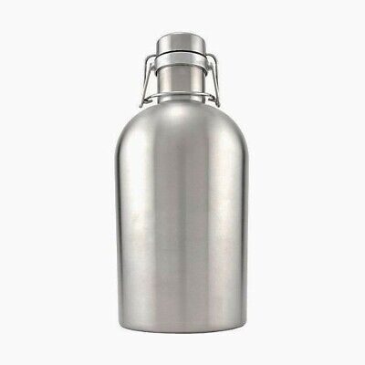 High Quality Stainless Steel Growler With Flip Top (64 oz or 2 Liters)