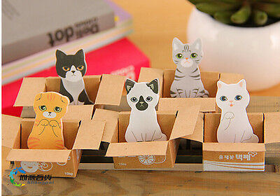 5 x Cute Cat Kitty House It Sticky Notes Sticker Post It Note Bookmark Memo Pads