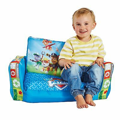 Paw Patrol Flip Out Sofa Kids Blue Lounger Seat Extends Free P+P