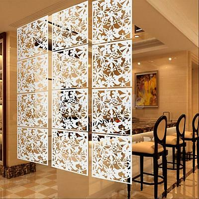 4x Flower Wall Sticker Hanging Screen Panel Room Divider Partition White