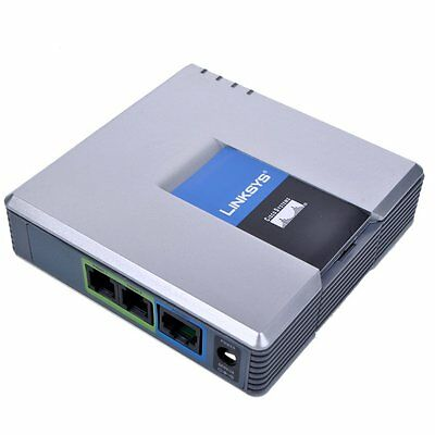 Nuovo SBLOCCATO LINKSYS CISCO PAP2T-NA PAP2T telefono VoIP SIP Gateway Adapter