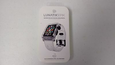 Lunatik Epik EPIK-005 Rugged Case + Silicone Band Apple Watch 42mm - Clear NEW
