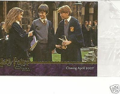 Harry Potter Sorcerers Stone Gold promo 03 card