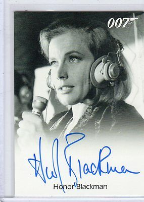 James Bond 50th Anniversary series 2 Honor Blackman Auto.EXTREMELY LIMITED