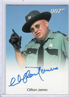 James Bond 50th Annivrsary Clifton James autographed card