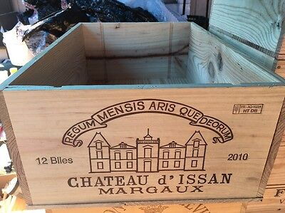Wine Box Case Crate 12 Bottle French Chateau D' Issan Margaux