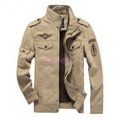Mens Battlefield Army Military Cargo Jacket Casual Blazers Outwears Chic Autumn