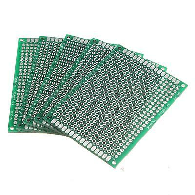 5Pcs Double Side Printed Circuit FR-4 PCB Vero Prototyping Track Strip Board US