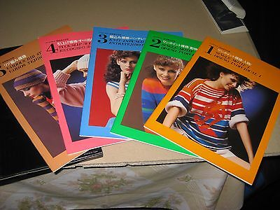 Singer 560 And 580 Electronic Knitting Pattern Book 1, 2,3,4 And 5