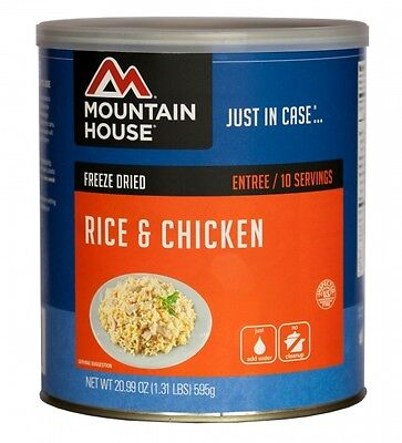 Rice and Chicken #10 Can - Mountain House Freeze Dried Survival Food