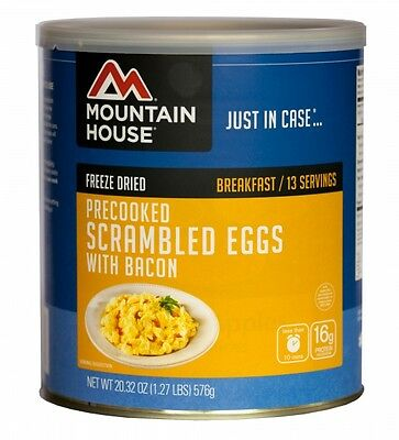 Scrambled Eggs with Bacon #10 Can - Mountain House Freeze Dried Survival Food