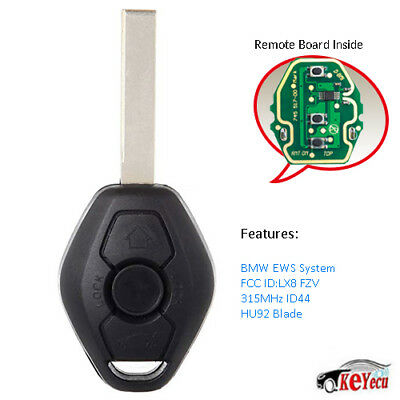 2PC*EWS Remote Key 3BTN 315MHZ/433MHZ ID44 for BMW 3 5 7 SERIES E38 E39 E46 HU92