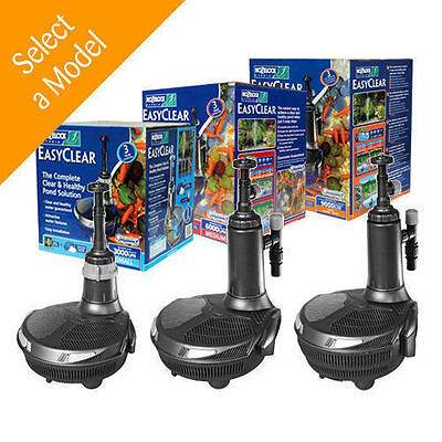 Hozelock Easyclear ALL SIZES All In One Pump UV Unit Filter For Pond Fish Koi