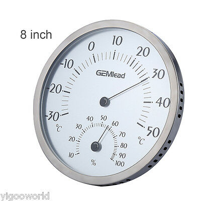 Outdoor Analog Hygrometer Thermometer Temperature Meter Humidity Gauge Monitor