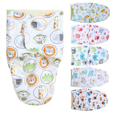 100% Cotton 0-3M Newborn Baby Swaddle Stroller Wrap Blankets Infant Sleeping Bag