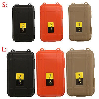 2 Sizes Outdoor Nylon Waterproof Airtight Survival Case Container Storage Box