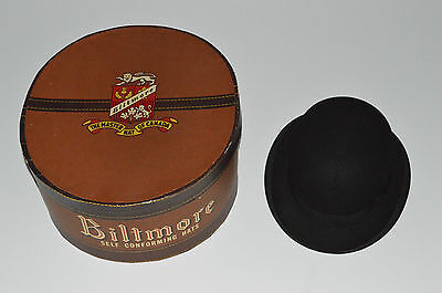 THE KING HAT Lyons London VINTAGE MEN'S BOWLER In Biltmore Canada Box ANTIQUE