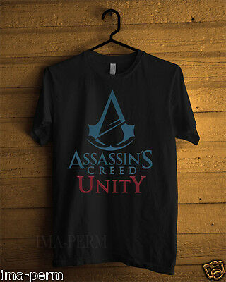 Assassin's Creed Unity Black T-shirt for Man Size S-2XL