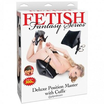 ❤❤ Coussin Gonflable avec Menottes Deluxe Position Master - FETISH FANTASY SERIE